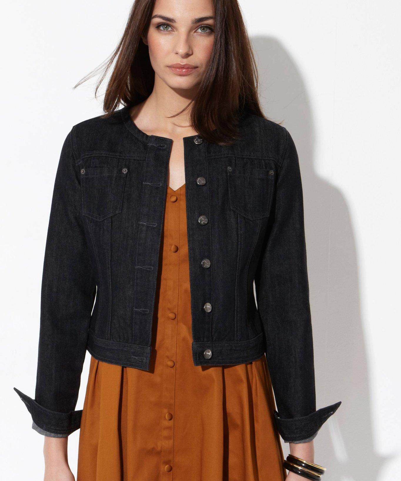 Veste en jean noire femme levis