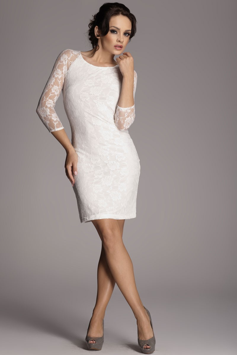 Robe blanche courte