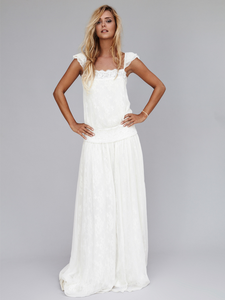Robe longue blanche pas cher for Robes blanches pour les mariages