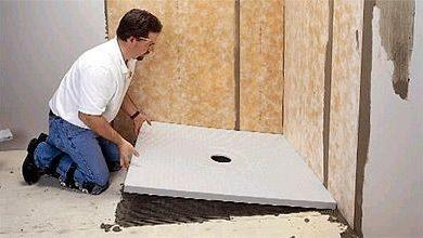 construire douche