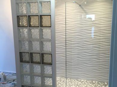 douche italienne brique de verre