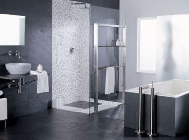 douche italienne grise
