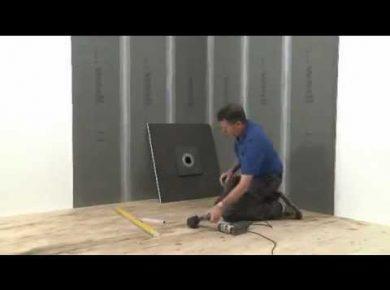 douche italienne sur plancher bois les étapes