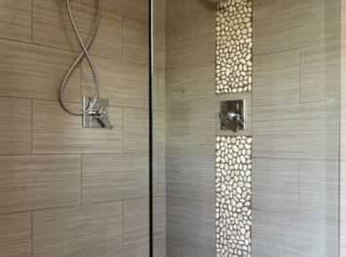 modele douche italienne avec galets