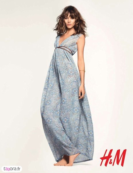 h&m robe longue