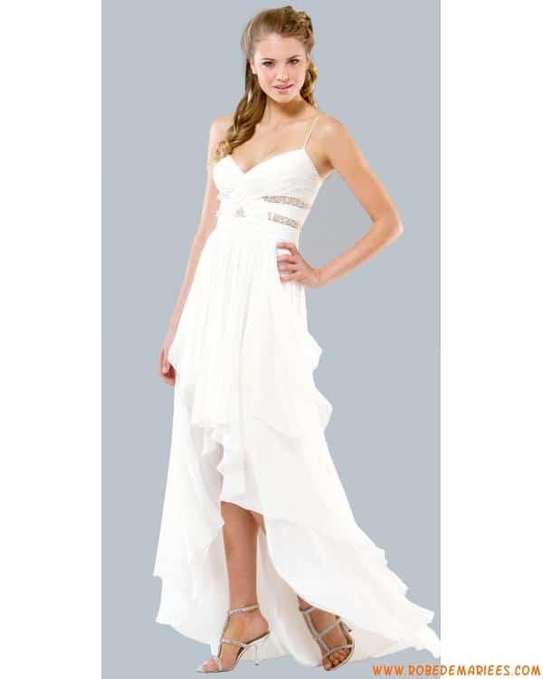 robe blanche de soirée