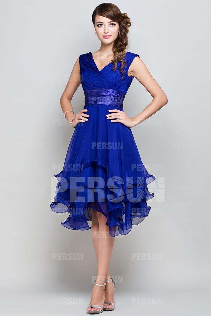 robe cocktail bleu