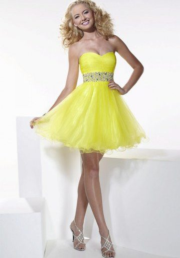 robe cocktail jaune