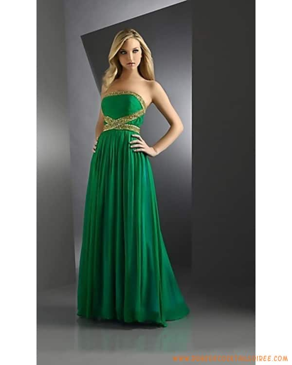robe cocktail verte