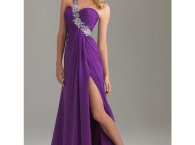 robe cocktail violette