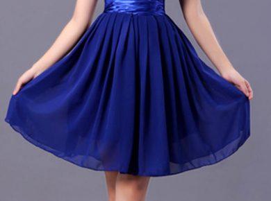 robe de cocktail bleu