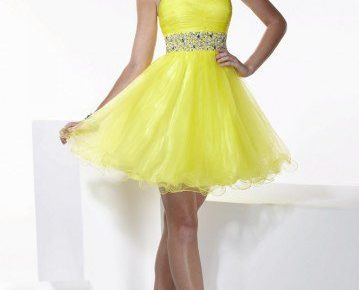 robe de cocktail jaune