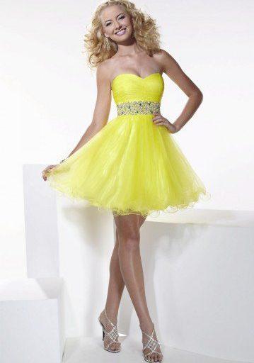 robe de cocktail jaune