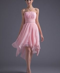 robe de cocktail rose
