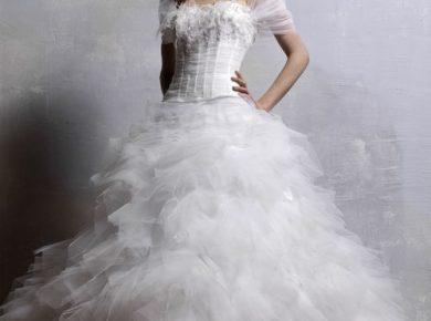robe de mariée plume