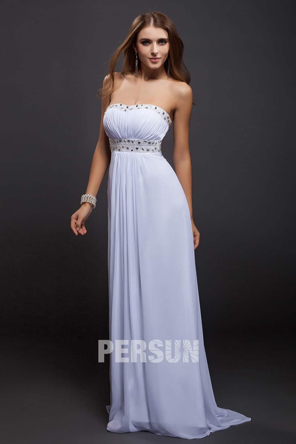 robe de soirée blanche