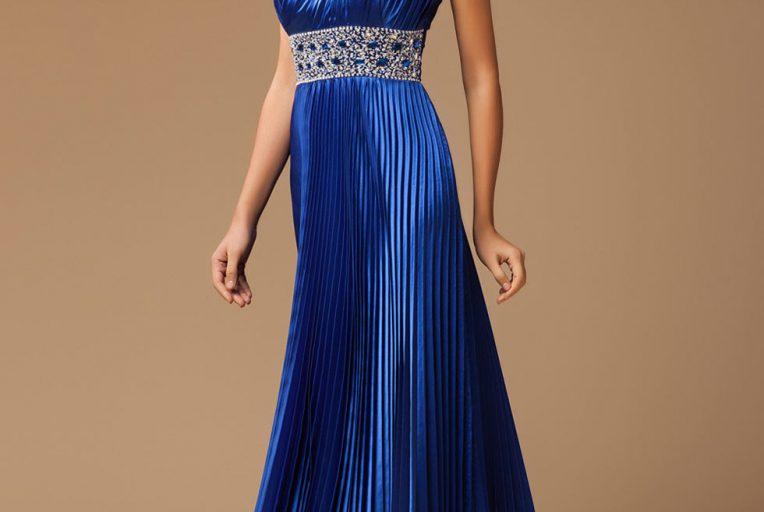 robe de soirée bleu