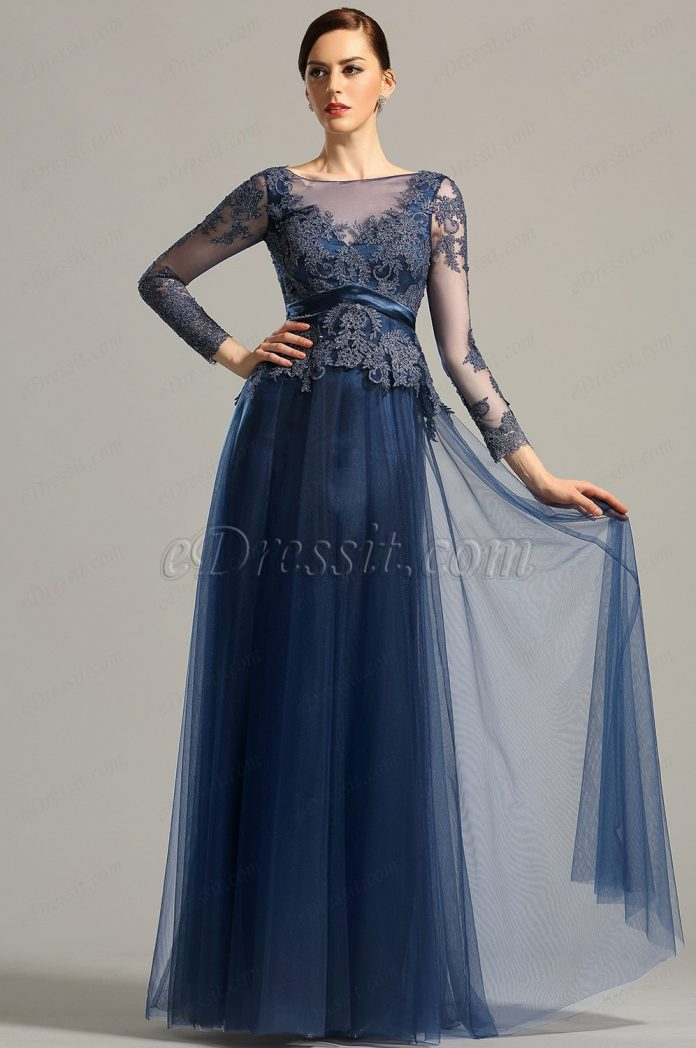 robe de soirée manche longue