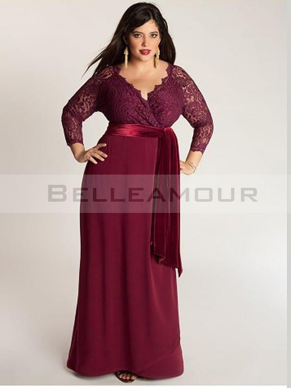 robe de soirée pour ronde