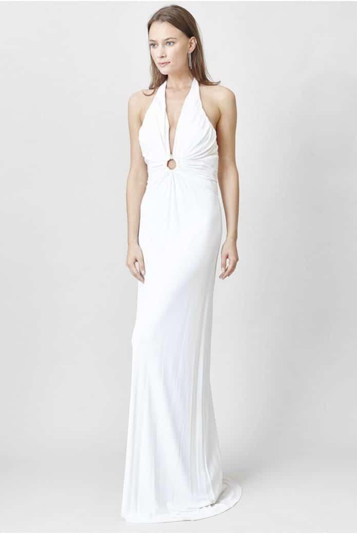 robe longue blanche