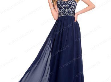 robe longue bleu