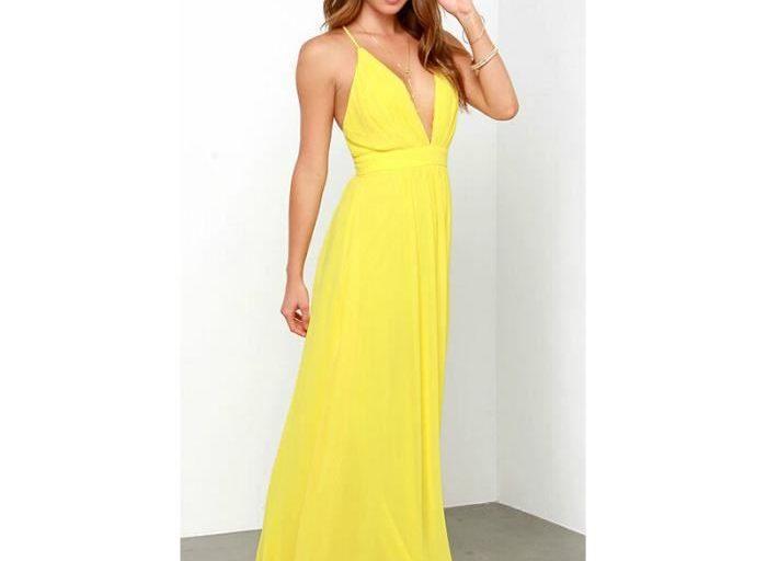 robe longue jaune