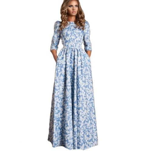 robe longue manche longue
