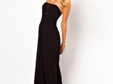 robe noir longue
