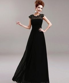 robe noire longue