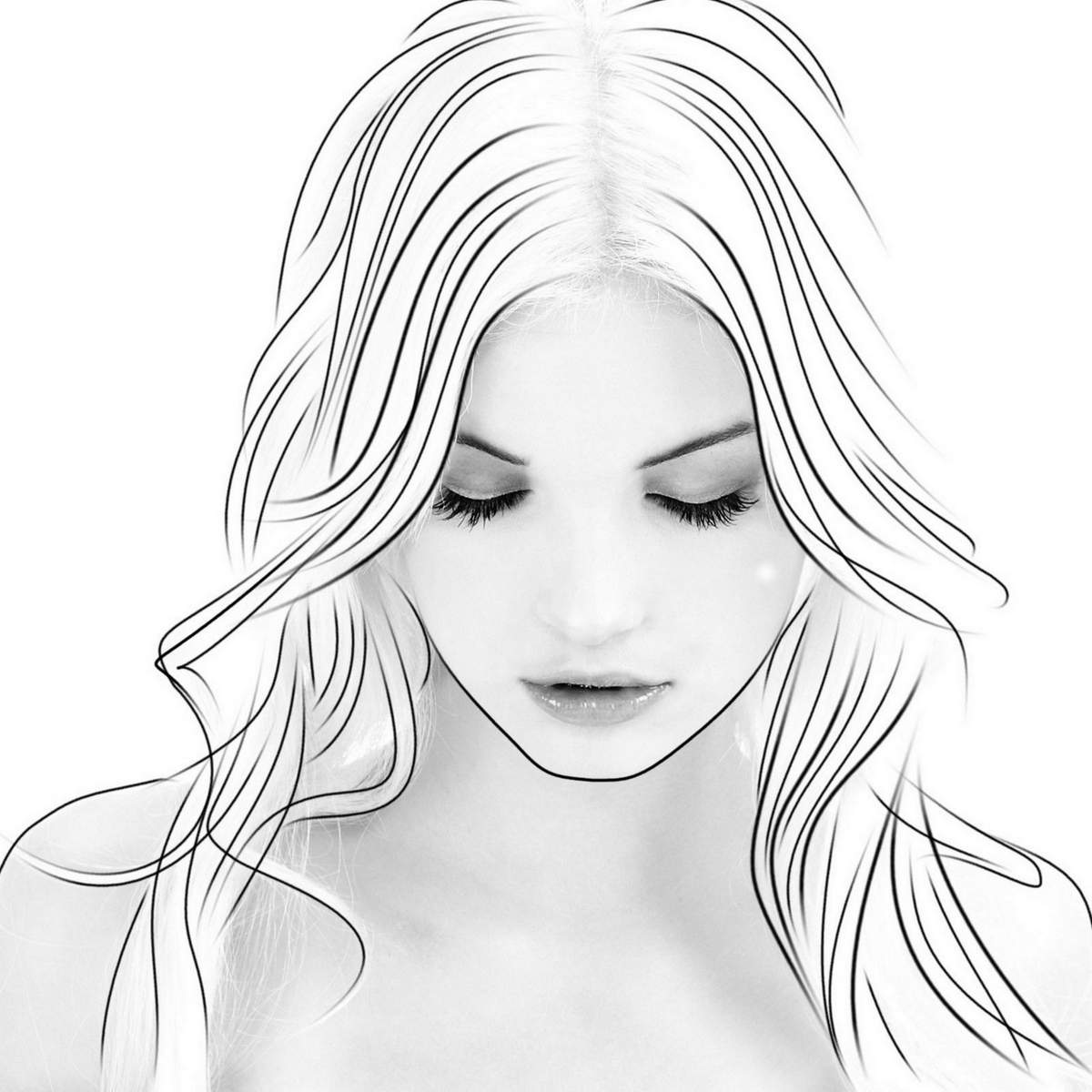comment dessiner visage femme. Black Bedroom Furniture Sets. Home Design Ideas